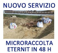 Servizio interventi di microraccolta di materiali contenenti amianto in 48 h