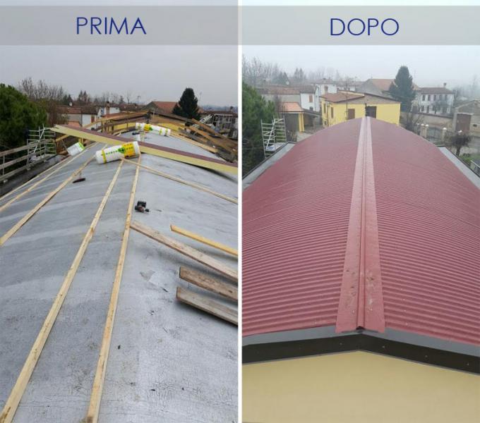 isolamento termico tetto capannone aziendale casi di
