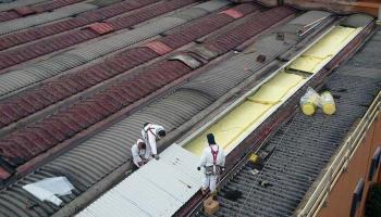 Bonifica amianto, rifacimento tetto industriale