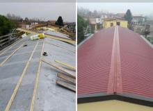 Isolamento termico tetto capannone aziendale