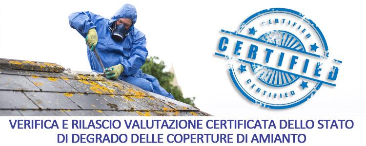 Certificazione stato degrado amianto