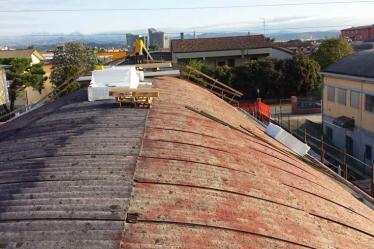 Smaltimento amianto Verona da fabbricato con copertura in amianto e realizzazione nuovo tetto