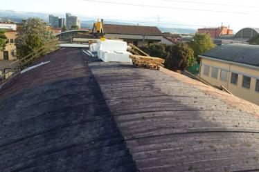 Rimozione amianto Verona da fabbricato con tetto in eternit e realizzazione nuova copertura
