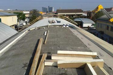 Bonifica amianto dalla copertura e rifacimento tetto