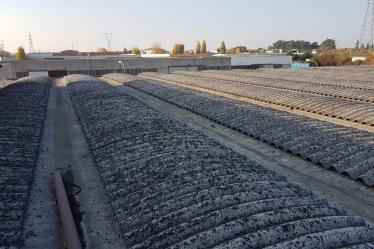 Cantiere F.lli Sartori (VR), fabbricato con copertura ricoperta di amianto, prima dell' inizio dei lavori di rimozione eternit