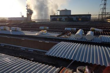Rifacimento copertura aziendale post rimozione amianto e smaltimento eternit azienda F.lli Sartori Castelnuovo del Garda (VR)