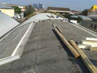 Lavorazione nuova copertura con isolamento termico post rimozione asbesto