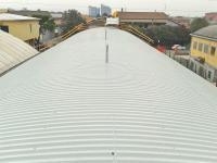 Ricostruzione copertura dopo bonifica eternit con posizionamento linea vita per manutenzioni in sicurezza
